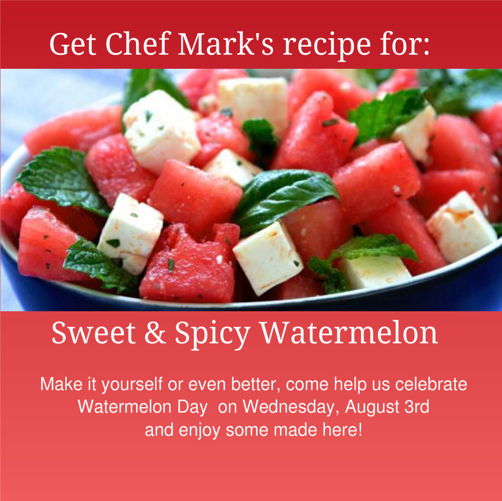 sweet and spicy watermelon graphic